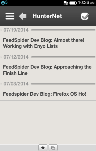 FeedSpider - The Coolest RSS Reader for webOS, LuneOS and